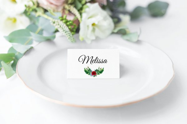 Crimson Natives Place Card