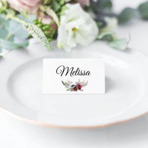 Ruby Helleborus Place Card