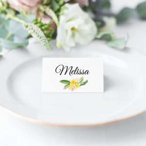 Frangipani Bliss Place Card
