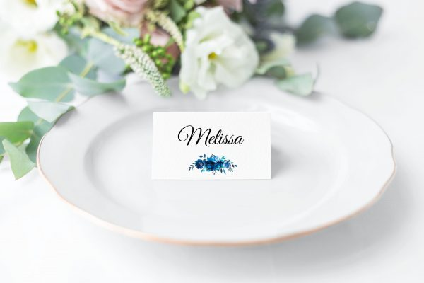 Something Blue Place Card