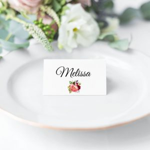 Autumn Blooms Place Card