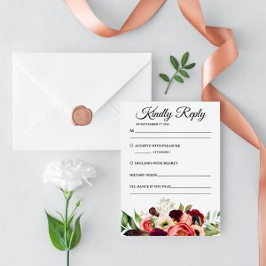 Autumn Blooms RSVP Card