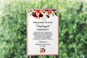 Autumn Blooms Unplugged Sign