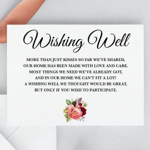 Autumn Blooms Wishing Well Card