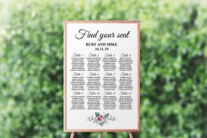 Anemone and Eucalyptus Seating Chart