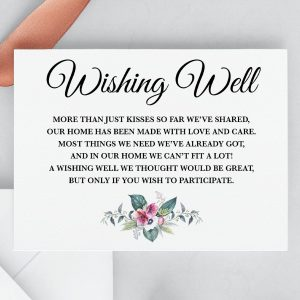 Anemone and Eucalyptus Wishing Well Card