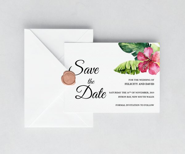 Aloha Save the Date Card