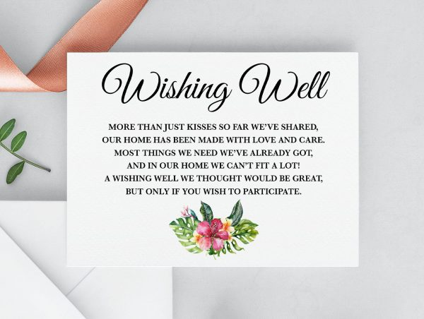 Aloha Wishing Well Card