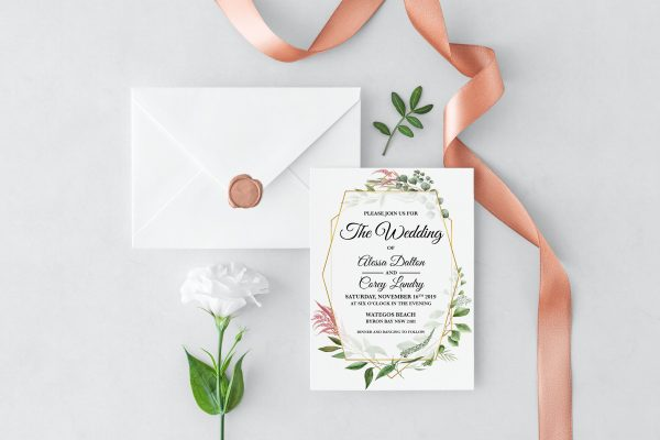 Byron Wilderness Wedding Invitation