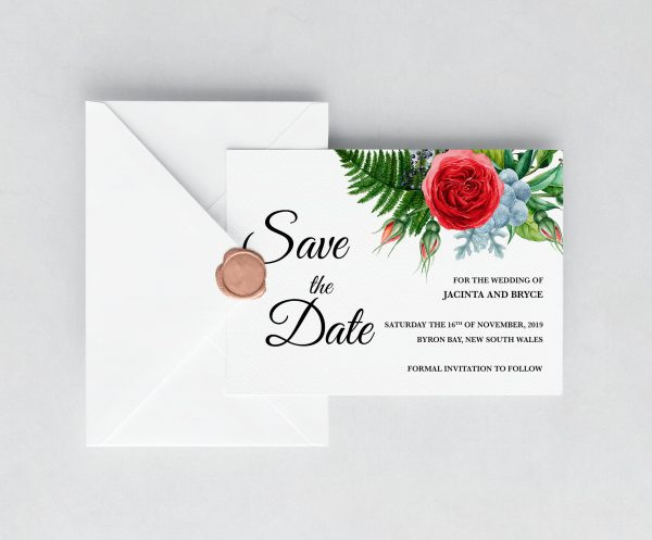 Crimson Natives Save the Date Card