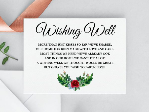 Crimson Natives Wishing Well Card