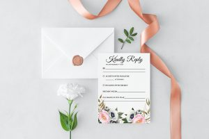 Dusty Blooms RSVP Card