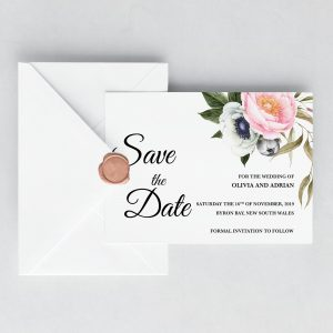 Dusty Blooms Save the Date Card