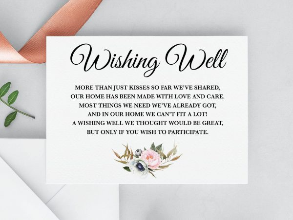 Dusty Blooms Wishing Well Card