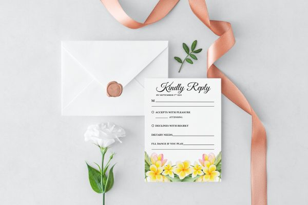 Frangipani Bliss RSVP Card
