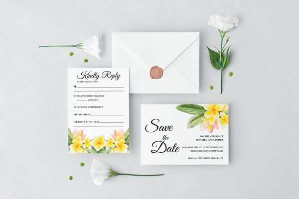 Frangipani Bliss Wedding Set