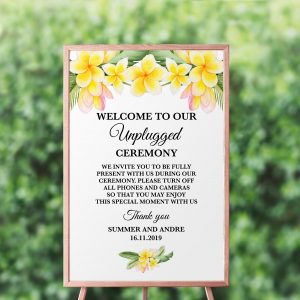 Frangipani Bliss Unplugged Sign