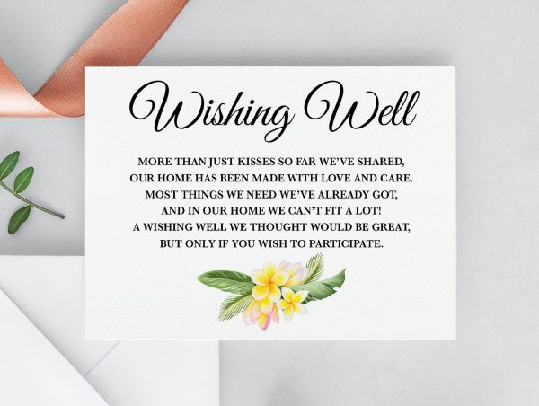 Frangipani Bliss Wishing Well Card