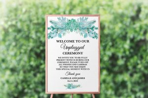 Frosted Succulents Unplugged Sign