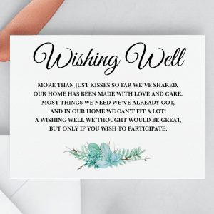 Frosted Succulents Wishing Well Card
