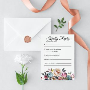 Misty Rose RSVP Card