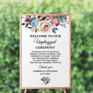 Misty Rose Unplugged Sign
