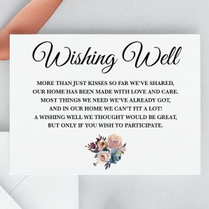 Misty Rose Wishing Well Card