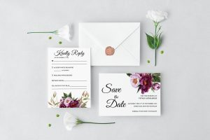 Marsala Blooms Wedding Set