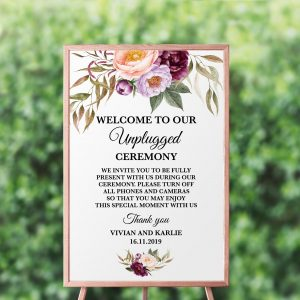 Marsala Blooms Unplugged Sign