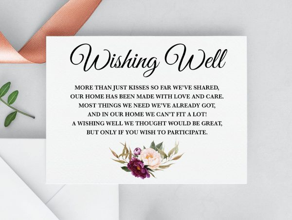 Marsala Blooms Wishing Well Card