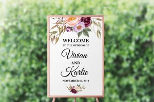 Marsala Blooms Welcome Sign