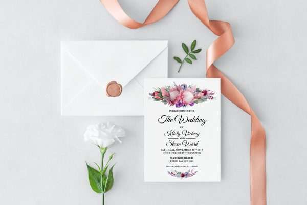 Native Florals Wedding Invitation