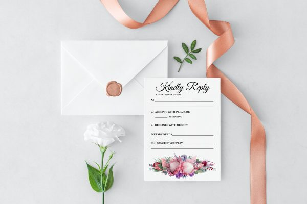 Native Florals RSVP Card