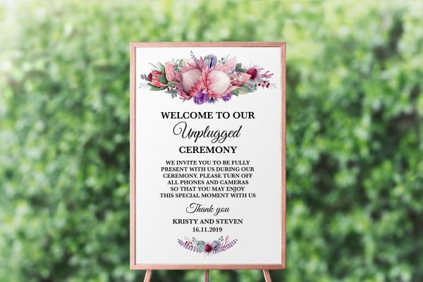 Native Florals Unplugged Sign