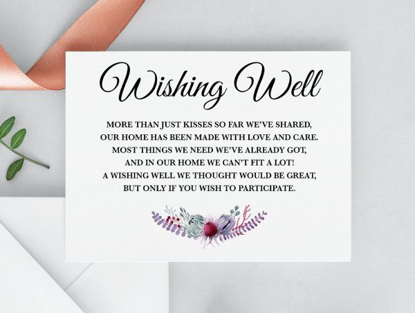 Native Florals Wishing Well Card