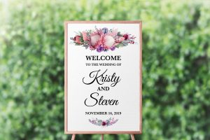 Native Florals Welcome Sign