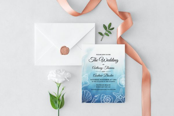 Ocean Dreams Wedding Invitation