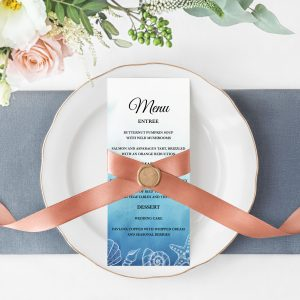 Ocean Dreams Menu Cards