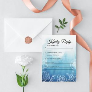 Ocean Dreams RSVP Card