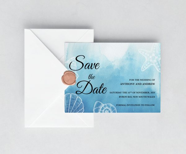 Ocean Dreams Save the Date Card