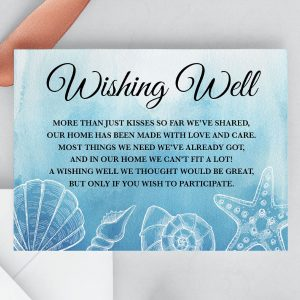 Ocean Dreams Wishing Well Card