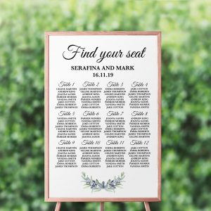 Olive and Lavender Seating Chart