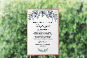 Olive and Lavender Unplugged Sign
