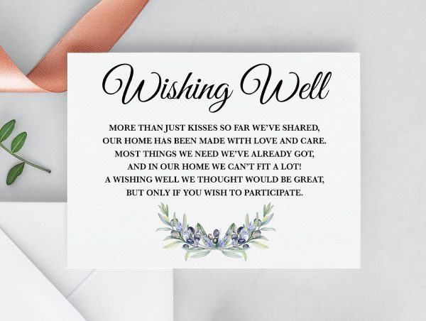 Olive and Lavender Wishing Well Card