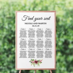 Peonies and Green Hops Seating Chart