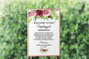 Peonies and Green Hops Unplugged Sign