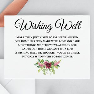 Peonies and Green Hops Wishing Well Card