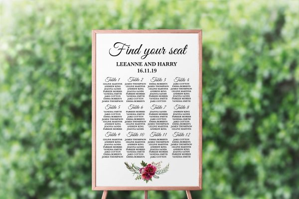 Ruby Helleborus Seating Chart
