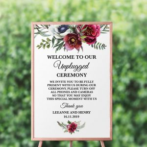 Ruby Helleborus Unplugged Sign