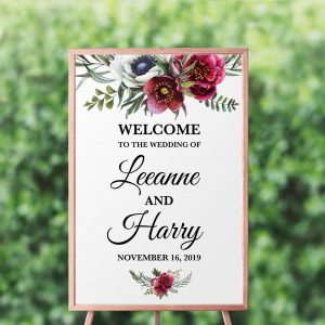 Ruby Helleborus Welcome Sign